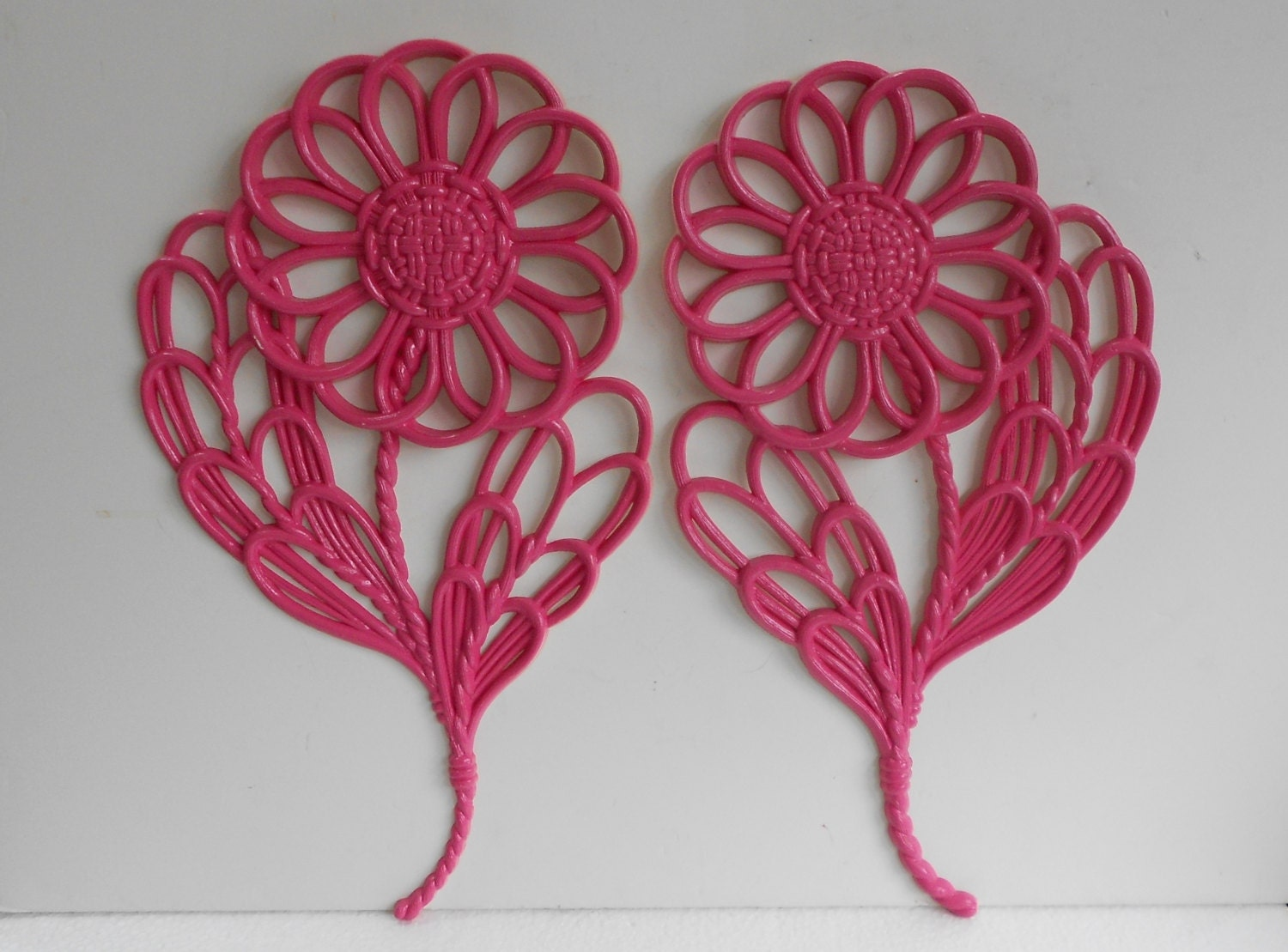 Large Flower Wall Decor : Wall flowers large vintage hangings decor hot