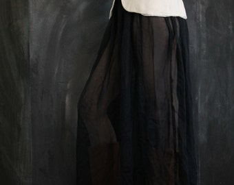 Sheer Black Maxi Skirt