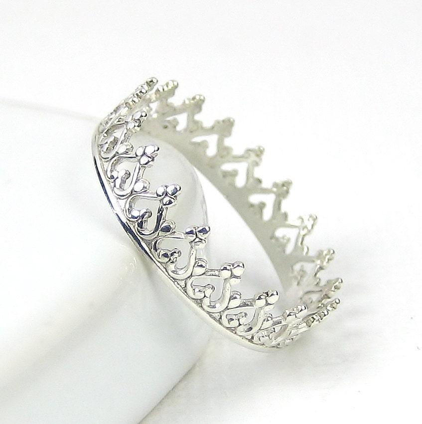 crown ring princess ring tiara stacking ring by