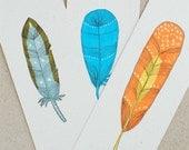 Bookmark - Original Feather Illustration