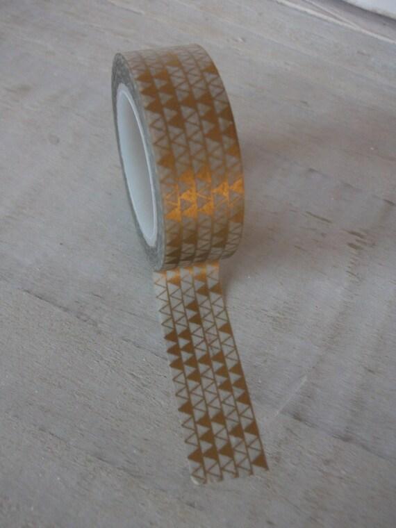Gold and white washi tape gold geometric design craft tape for Geometric washi tape designs