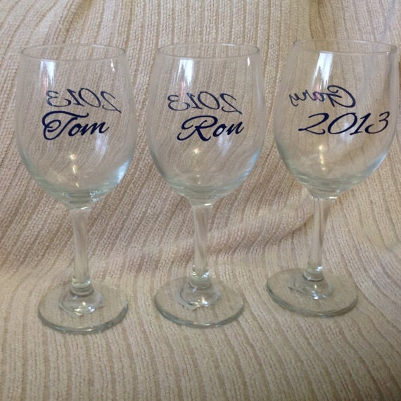 Diy Personalized Wine Glass Vinyl Decals Stickers Make Your