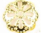 9.5MM Gold Plated Bead Caps KA54G   Sold 100pcs Free Shipping
