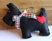 Lovable Scottie Dog - Felt Ornament
