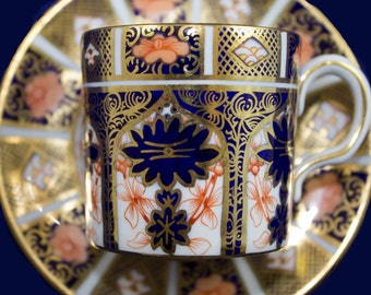 Royal Crown Derby Old Imari #1128 Demitasse Cup and Saucer