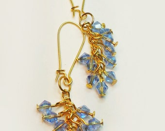 Sky Blue AB Crystal Earrings