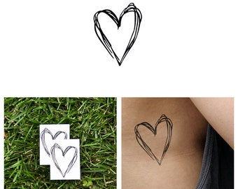 Heart's a Mess - Temporary Tattoo (Set of 2)