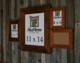 Multi-Pane Reclaimed Redwood Picture Frame