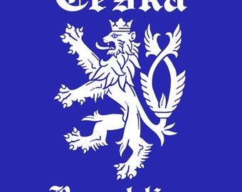 CZECH Republic Czechoslovakia CESKA t-shirt tee shirt short or long sleeve your choice! all sizes many colors
