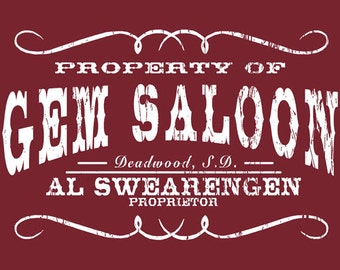 GEM SALOON DEADWOOD south dakota sweatshirt sweat shirt