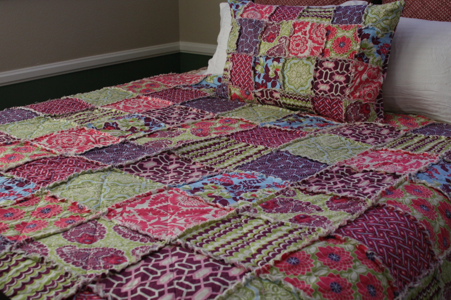 Rag Quilt Patterns For Twin Bed : Twin Quilt full Rag Quilt Joel Dewberry Heirloom in