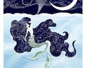 "11x14 The Little Mermaid ""Sea & Sky"" art print - signed"