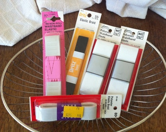 Waistband elastic! Retro? Vintage? (5) packages never opened! Endless possibilities...