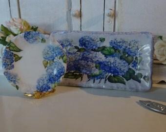 Hydrangeas Dollhouse Miniature Tray