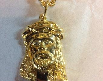 Micro Jesus head pendant