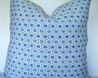 20x20 Pillow Cover. Blue print Pillow Cover. .Throw Pillow. Toss Pillow