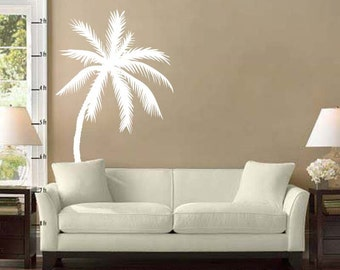 "Palm Tree Vinyl Wall Decal Sticker 33""h x 22""w"