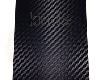 Amazon Kindle Black Carbon Fiber Skin Cove Vinyl Wrap Decal Skin 1pcs