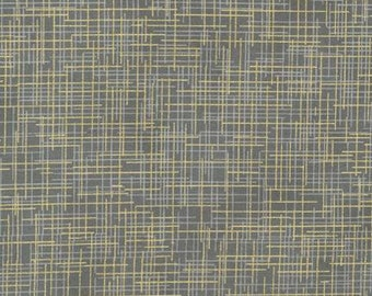 Quilter's Linen Metallic in Grey by Kaufman Fabrics - 1 yard