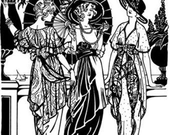 FW265 - Afternoon Tea Dress Sewing Pattern by Folkwear
