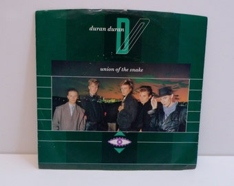 Duran Duran Vinyl Vintage Single Union Of The Snake Picture Sleeve b-side Secret Oktober 7 inch Record 45 rpm Simon LeBon New Wave Glam Rock