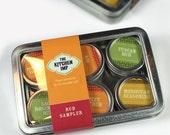 Organic DRY RUB SET - set of 6 - and Recipes - Spice Kit