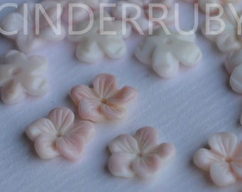 Pink Mother of Pearl Shell Beads,Pink MOP Forget Me Not Flowers,Natural 5-Petal Pink Queen Conch Shell Flowers,10/12 mm,Hand Carved
