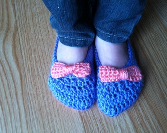 Toddler Bow Slippers (Customizable)