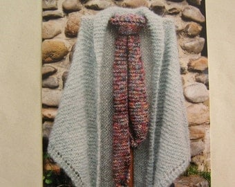 Knitting Pattern, Oat Couture, English Garden Shawl and Scarf, Easy Knit