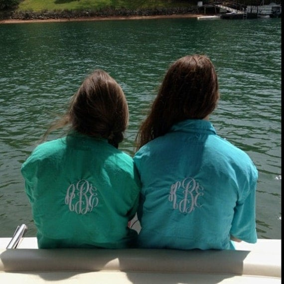 Items similar to monogrammed preppy columbia pfg fishing for Monogram fishing shirt