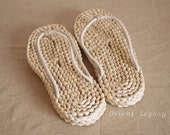 Orient Legacy Straw Flip Flops Handmade Eco Friendly Slippers Thong Straw Sandals Shoes