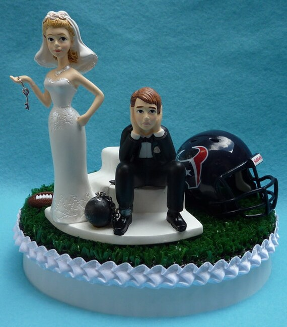 wedding cake toppers in houston tx wedding cake topper houston texans football themed and 26508