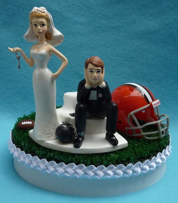 wedding cake cleveland wedding cake topper cleveland browns football themed and 22207