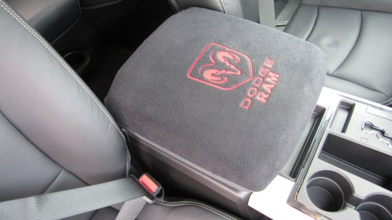 center console cover embroidered dodge ram by crazycoversusacom. Black Bedroom Furniture Sets. Home Design Ideas