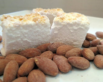 Almond Marshmallows - 1 dozen Gourmet homemade marshmallows