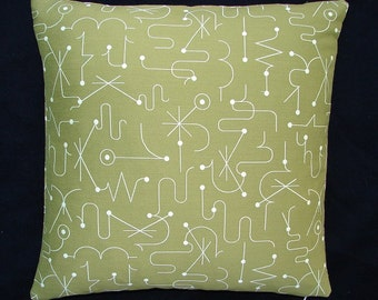 "Mid Century Modern Luna Spellbound - throw Pillow -  Kinetic Mobile - Calder Inspired -  17"" X 17"""