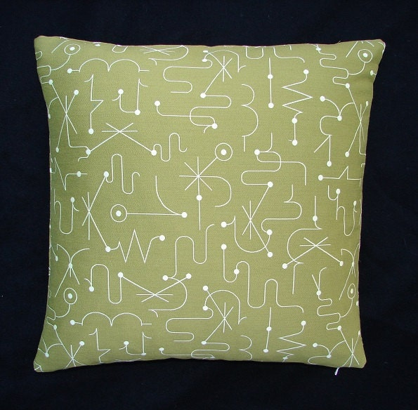 Mid Century Modern Luna Spellbound throw Pillow Kinetic