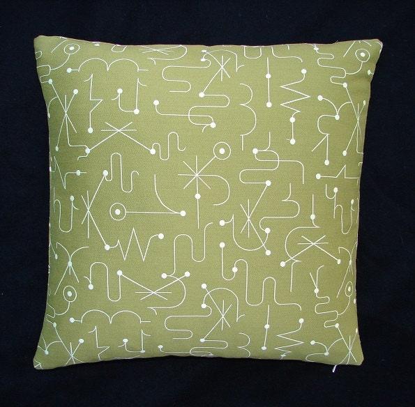 Maia Modern Pillows : Mid Century Modern Luna Spellbound throw Pillow Kinetic