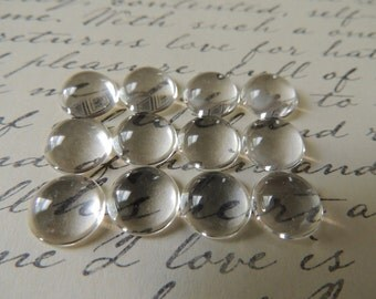 40 Pcs Clear Dome Cabochon, ~12mm Glass Cabochon, Cameo Covers, Flat back Cabochon