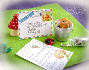 Tiny Tooth Fairy letter AND Certificate! Editable!