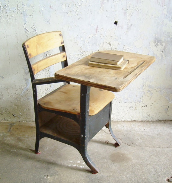 for samantha torres rustic vintage school desk chair mid century black