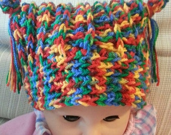Crochet Pattern Baby Toddler Crayon Hat