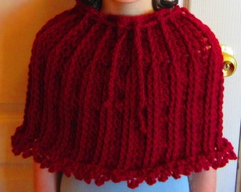 Crochet Pattern Cowl Poncho Adult Teenager Tween Spring Summer Winter Fall