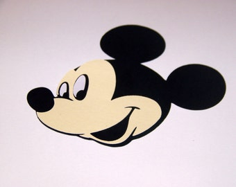 10  Mickey Mouse face 6 inch card stock die cuts