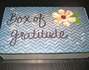 Thank You Card Box / Box of Gratitude / Stationery / Blue Stripes / Thank You Cards & Envelopes with Twine / Box Set