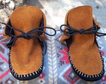 moccasins Thick outdoor leather bullhide sole rubber sole option