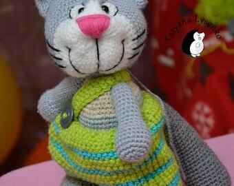 Crochet PATTERN HAPPY CAT