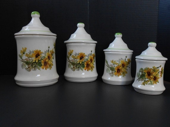 Sunflower Canister Sets Kitchen