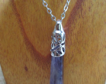 NEW LOWER PRICE!!! Amethyst crystal on silver chain