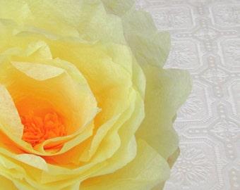 Airy Yellow Peony - Paper peony, Paper flower